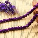 Beads, Glass, Dark purple , Round shape, Diameter 8mm, 10 Beads, [BHB0168]
